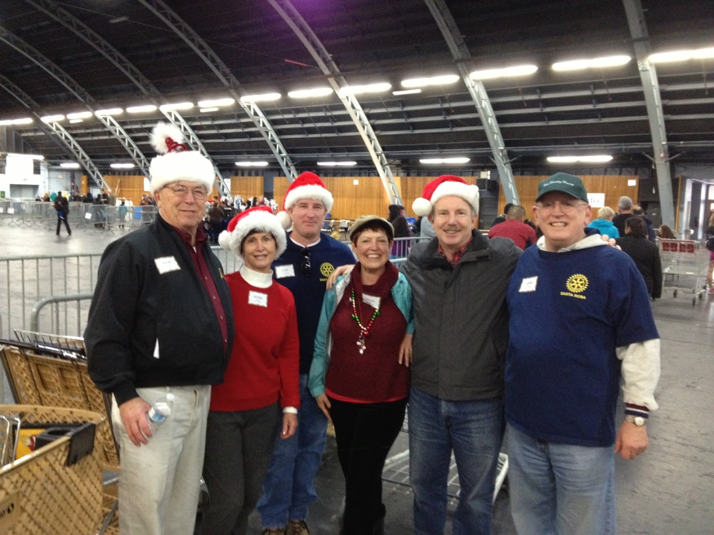 Rotarians at work at the Great Christmas Feast