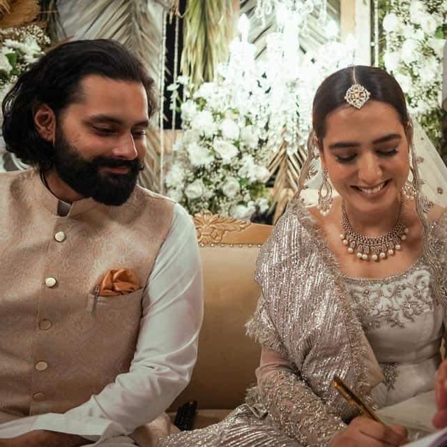 Mansha Pasha and Jibran Nasir tied the Know in close ceremony