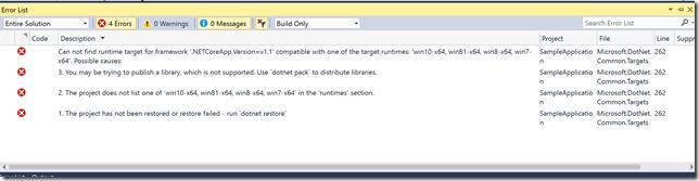 error-for-runtime-application-net-core
