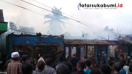 Kebakaran di Kabandungan,  Rumah dan 2 Toko Hangus Dilalap Api