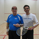 John Michaelson, finalist, and Jeff Boshar, winner, of the Men's 60+ Consolation flight.