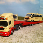 ERF ECS slide axle trailer- on a oxford chassis,.with a scratch build working slide axle trailer on recovery