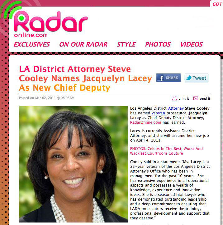 Los Angeles Dragnet: Assistant District Attorney Jackie