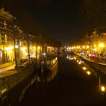 gorgeous canals by night in Den Haag, Zuid Holland, Netherlands