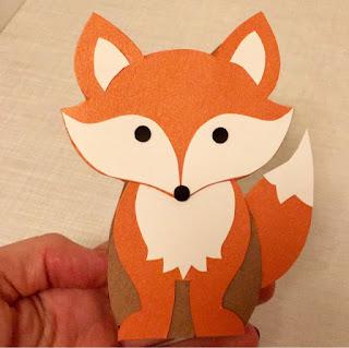 Kleine Schachtel mit Fuchsmotiv