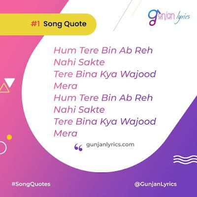 Tum Hi Ho Song Quotes ,Tum Hi Ho Song  lyrics