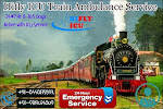 Advance Medical Facility Train Ambulance Service in Patna By Hifly ICU