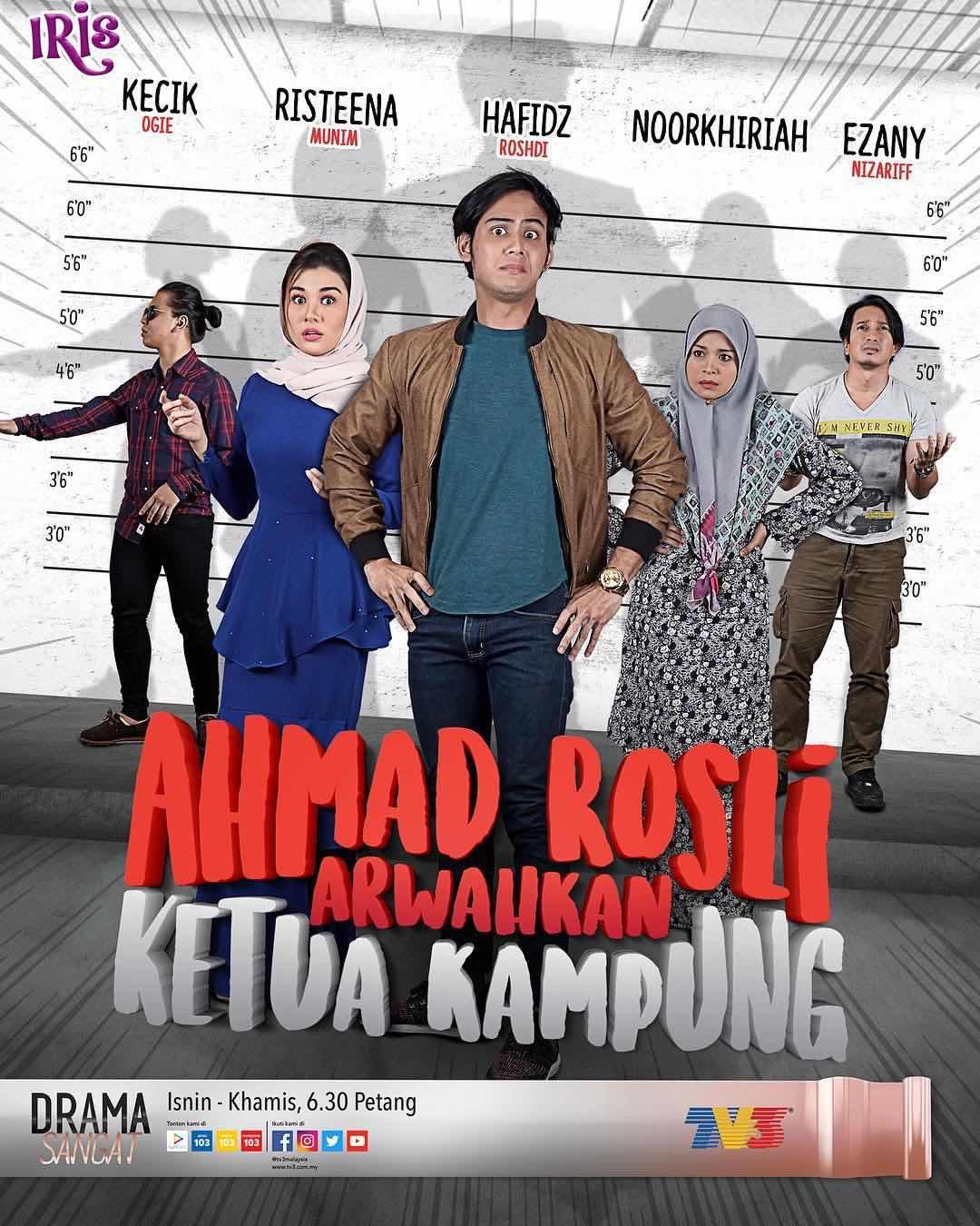 Permalink to Sinopsis Drama Ahmad Rosli Arwahkan Ketua Kampung (Iris TV3)
