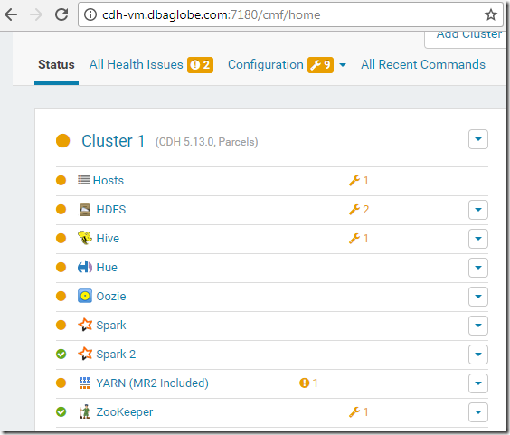 Donghua's Blog - DBAGlobe: Installing or Upgrading Cloudera