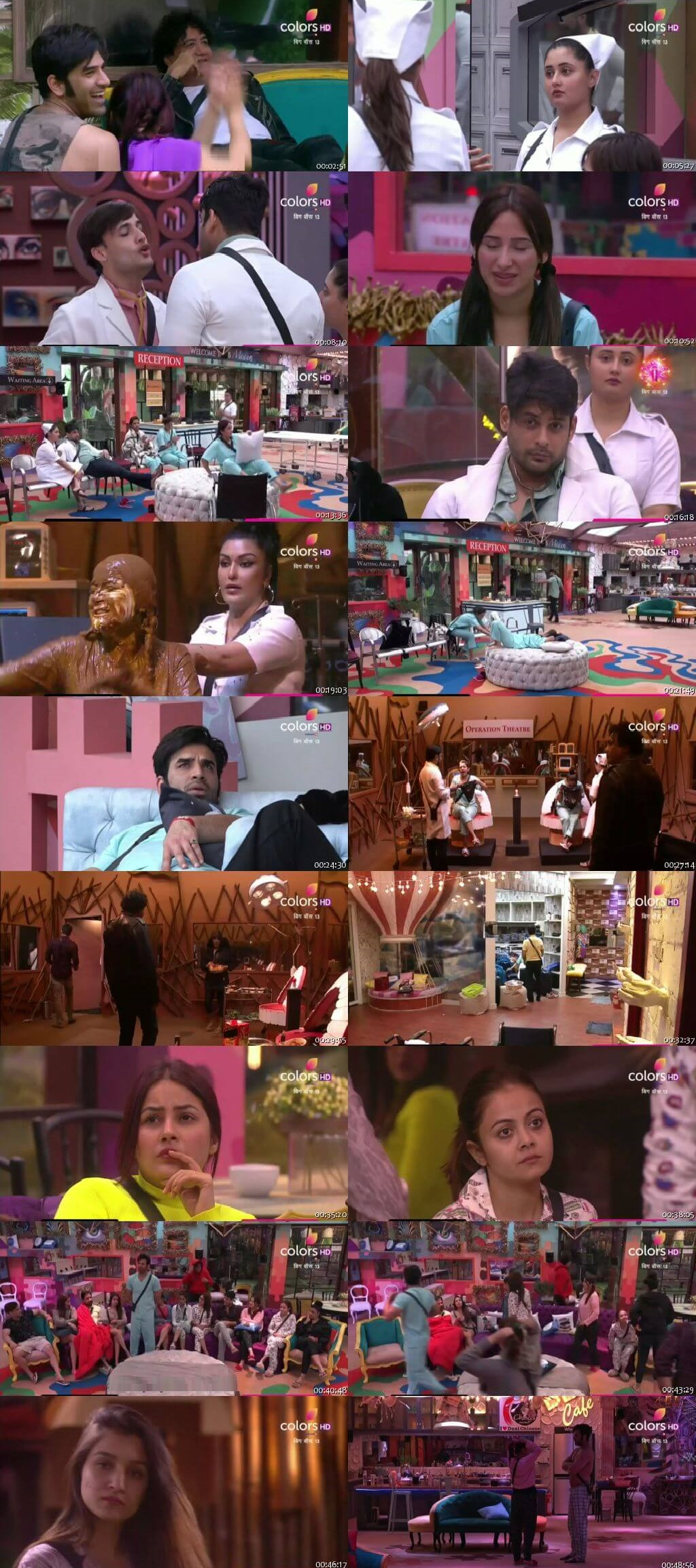 Screenshots Of Hindi Show Bigg Boss 13 3rd October 2019 Episode 04 300MB 480P HD