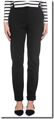 Whistles slim cotton blend trouser