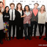 WWW.ENTSIMAGES.COM -      Harriett Kemsley, James Norton, Farhana Bhula, Orlando Seale, Josie Lawrence, Milton Lopes, Matthew Hammett Knott (Director), Tish Potter and Tessa Peake Jones   arriving at        World Premiere of Bonobo at the 22nd annual Raindance Film Festival in Vue Piccadilly, London September 25th 2014Feature length which follows a straight laced middle-aged widow as she attempts to remove her daughter from a hippy commune.                                               Photo Mobis Photos/OIC 0203 174 1069