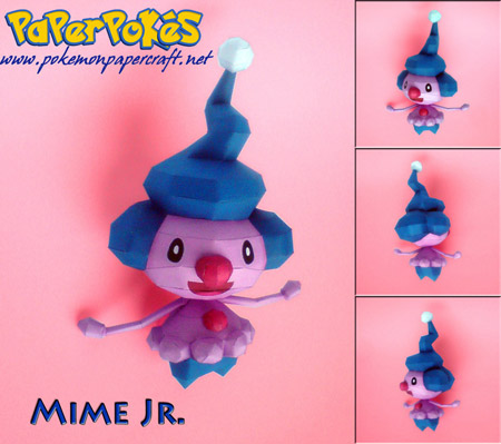 Pokemon Mime Jr. Papercraft