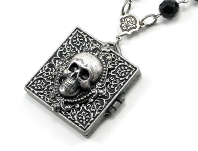 Gothic Necronomicon Locket