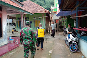 Bersama Warga Anggota Kodim 0619/Purwakarta Laksanakan Penyemprotan Disinfektan