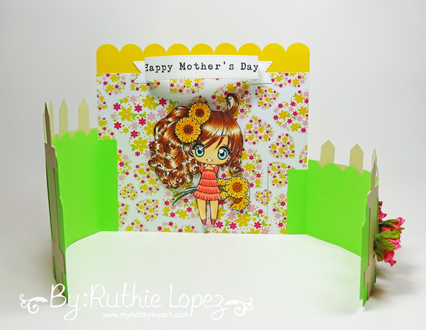 Latinas Arts and Crafts - The Cuttiing Cafe - Make it Crafty - Bendi Card - Ruthie Lopez 6