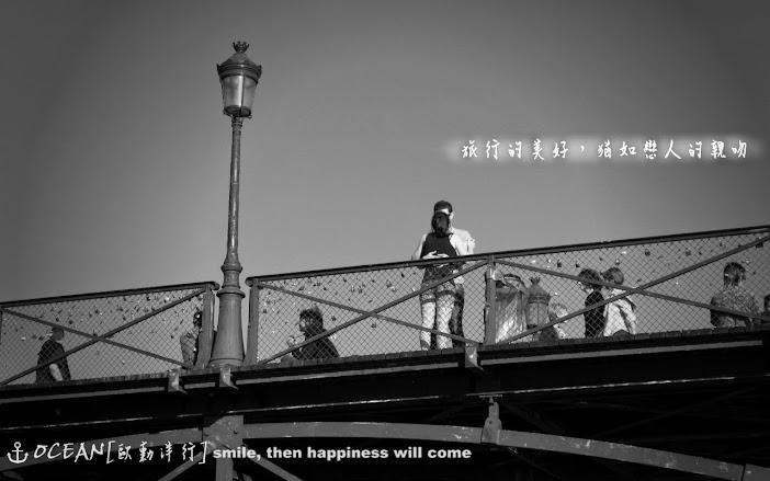 巴黎 愛情橋 親吻的情侶