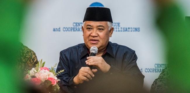 Din Syamsuddin: Jangan Melarang Umat Ke Masjid, Tapi Mengizinkan Orang Menumpuk Di Bandara