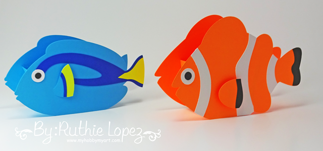 Nemo - Dory - Buscando a Nemo - Buscando a Dory - Finding Dory - Finding Nemo - Ruthie Lopez - My Hobby My Art 6