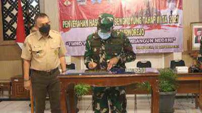 Dandim 0708 Purworejo Tutup TMMD Sengkuyung Tahap III 2021