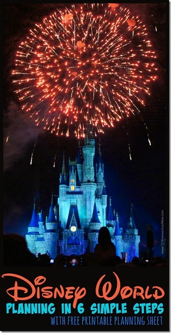 Disney World Planning in just 6 simple steps including a free printable planning sheet. You NEED to read this before your next family vacation to Disney.