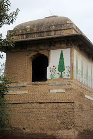 Brick-built structure with Chhajja (shelf) near the top
