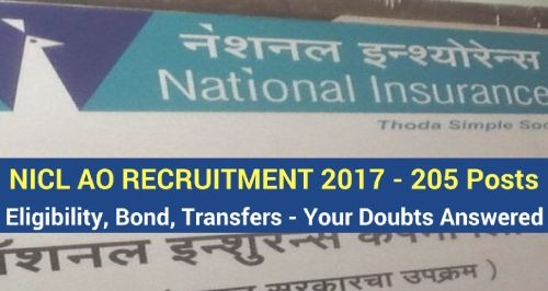 NICL AO Recruitment 2017,national insurance company recruitment,NICL AO eligibility,NICL AO transfers,NICL AO service bond