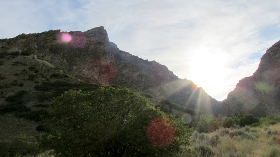 Squaw Peak and the sun rising over Rock Canyon