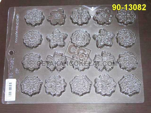 Cetakan Coklat 90-13082 cokelat bunga