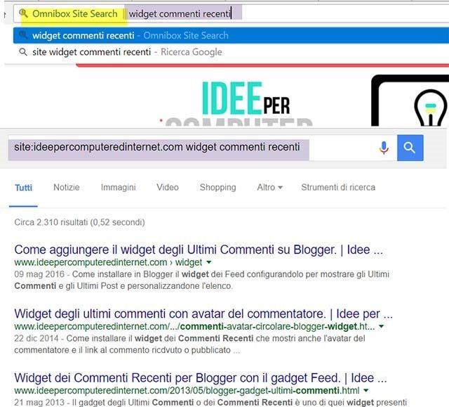 ricerca-omnibox-site-search