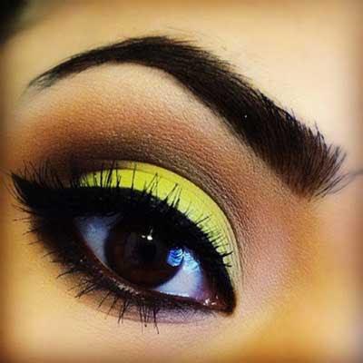 Maquiagem amarelo carnaval