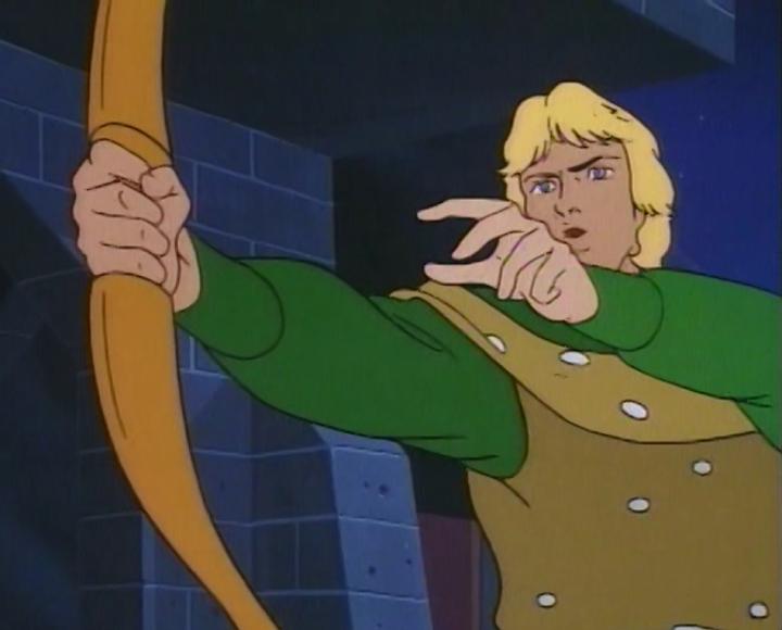Hank futilely plucks his bow