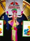 Grren & Pink on stilts for KMART & Sesame Street