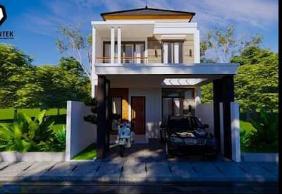 gambar rumah minimalis sederhana 2 lantai 3 kamar tidur