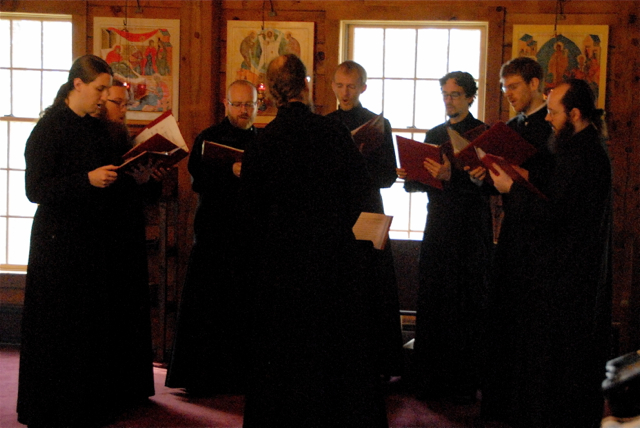The SVS Octet sings the responses throughout the Liturgy.