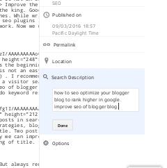 Add meta tags to blogger blog