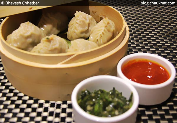 Chicken and Prawn Gyozas at SocialClinic Restobar in Koregaon Park area of Pune
