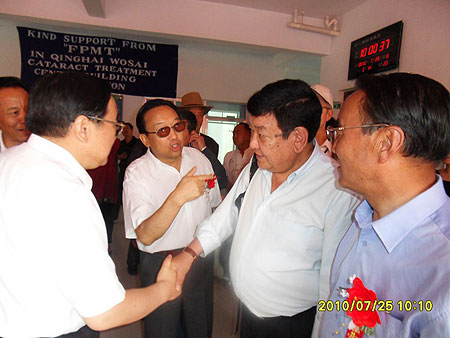 Dr. Sanduk Ruit visiting the Amdo Eye Hospital July 2010