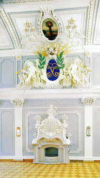 Монограмма Петра I в Парадном зале Кадриоргского дворца