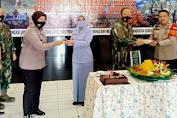 Kunjungi Komando Satuan Bravo 99 Rumpin, Kapolsek Cisauk Berikan Suprise Ucapan HUT Korps Paskhas Ke 73