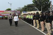 Dipimpin Bupati, Polres Cianjur laksanakan apel gelar pasukan Operasi Ketupat Lodaya Tahun 2021