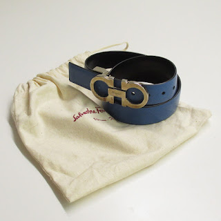 Salvatore Ferragamo Reversible Blue/Black Belt