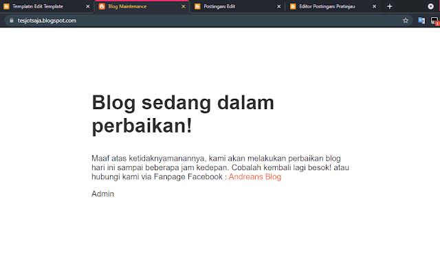 template blogger maintenance