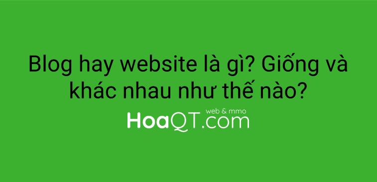 Hinh anh: Di tim nhung diem khac nhau giua blog va website