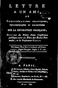 Cover of Louis Claude De Saint Martin's Book Lettre a un Ami ou Considerations Politiques, Philosophiques (1795,in French)