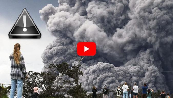 O vulcão Kilauea do Havaí entrou hoje 170518 em erupção explosiva