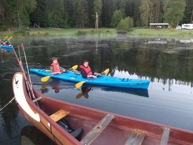 Ben and Matthew get to Kayak back