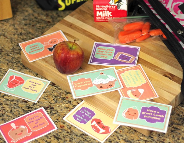 Lunchbox notes for kids halloween