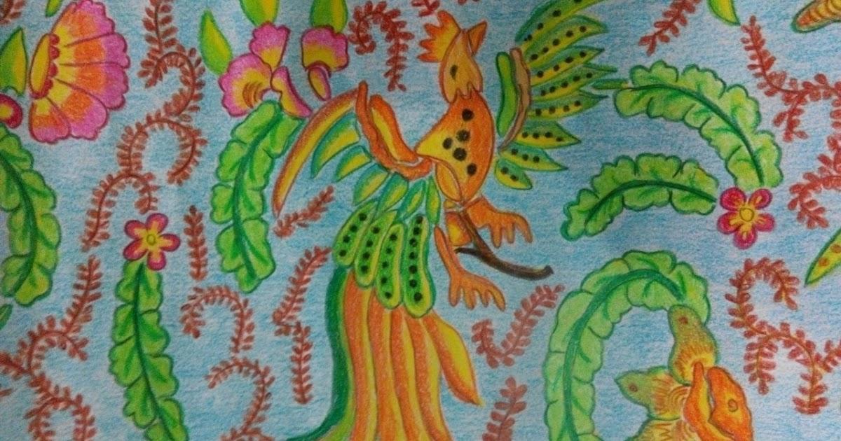 Mewarnai Batik Dengan Crayon Download Gambar Mewarnai Gratis