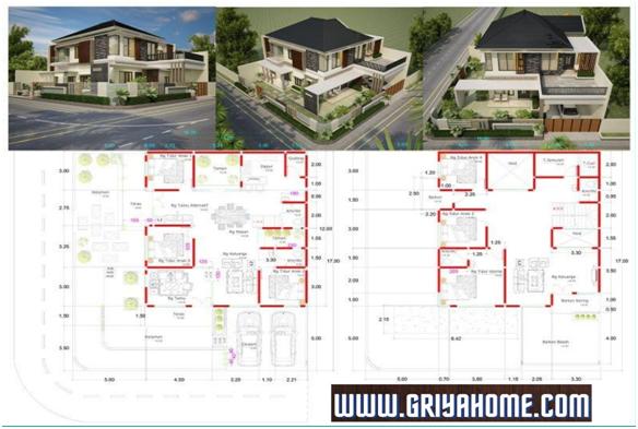 Alternatif Memilih Gambar Denah Rumah 2 Lantai Yang Sesuai